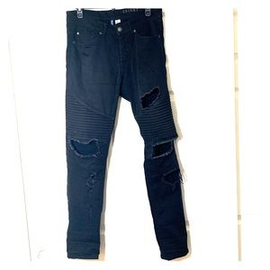 H&M / Black | Distressed | Skinny Jeans